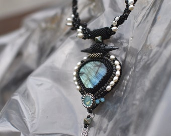 Mattoni -  beadwoven/beadembroidery necklace