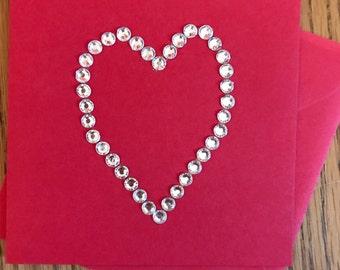 Gem heart card