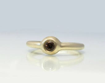 Rose Gold Ring, Smoky Quartz Ring, Mother's Ring, Gold Ring Stack, Gemstone Engagement Ring, Eternity Ring, Gold Promise Ring, Delicate Ring