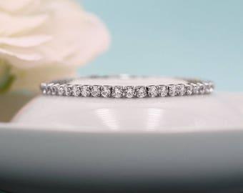 Wedding bracelet, Silver cz wedding bracelet, cz bracelet, Bridesmaid Bracelet, bridal jewelry, Ella Crystal Bracelet