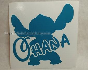 Disney Stitch Ohana Vinyl Decal