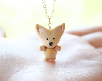 Lily the Fennec Fox necklace -14k gold filled-