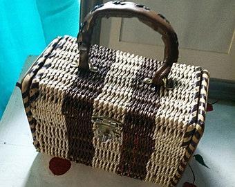 Vintage Top Handle Bag Woven