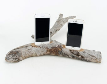 Docking Station for iPhone, iPhone dock, iPhone Charger, iPhone Charging Station, iPhone driftwood dock, wood iPhone dock/ Driftwood-No.1021