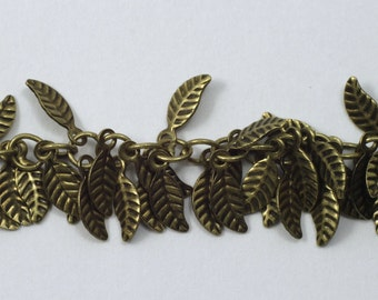 Antique Brass, 4mm x 6mm Leaf Chain #CC158