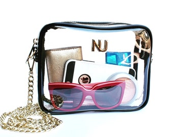 Clear Purse- Crossbody- Stadium Approved Handbag- Clear Bag Policy Approved
