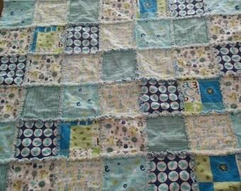 Custom Rag Quilt - Baby Blanket - Nursery Decor - Nursery Bedding - Patchwork Quilt - Handmade Quilt - Baby Quilt - Crib Blanket