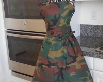 Women's camouflage apron
