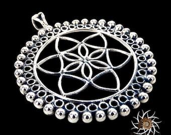 Silver Pendant - Ethnic Pendant - Gypsy Pendant - Silver Jewelry - Ethnic Jewelry - Gypsy Jewelry - Silver Tribal Pendant