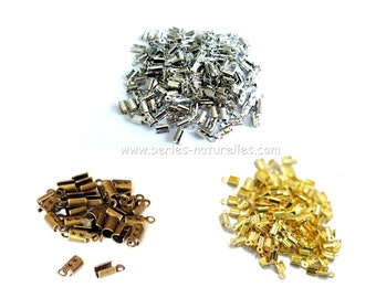 End Clip - 10/100/500/1000 - Silver, Bronze, Gold End Clips - Many Quantity and Colors choice