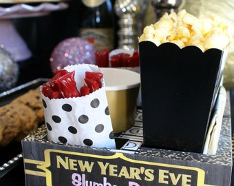 New Year's Eve Slumber Party Snack Boxes
