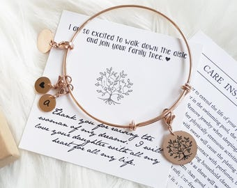 Personalized Mother in Law Gift Mother in Law Christmas Gift Mother of the Bride Gift Mother of the Groom Gift Mother Daughter Bracelet