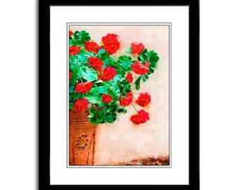 Red Flower Art Digital Art Print Wall Art Prints Home Decor Art for Cards Fine Art Print Floral Wall Art Botanical Wall Art Wall Decor