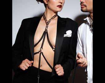 Body Harness Bondage - Body Chain Bdsm - Chain Bralette - Sexy - Festival Clothing - Post Apocalyptic - Gothic - Cyberpunk - Burning Man