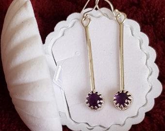 Amethyst Earrings Fine 925 Silver