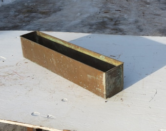 Salvaged Solid Copper Planter Repurpose DIY Project Supplies