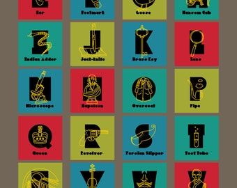 Sherlock Holmes Alphabet Poster from A to Z