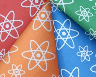 "Rainbow Atomic Orbits Chemistry Fabric, 4 8"" Squares"