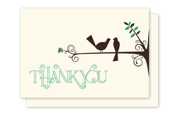 Out on a Limb (birds on a branch) Thank You Card Pack