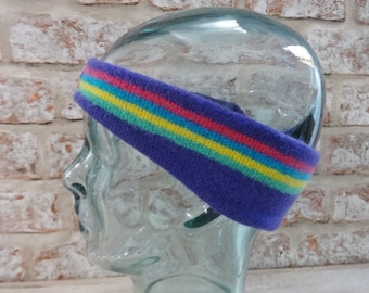 CLUBA Headband Retro 80's Approx.44cm x 7cm Ski Winter Vintage