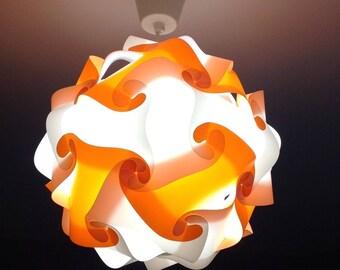 Light orange and white lamp sphere zen puzzle