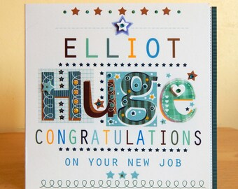 Personalised Male/Female Congratulations special card. Congrats Engagement Wedding Job