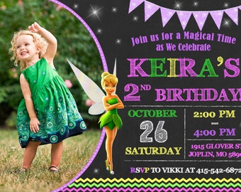 TinkerBell Invitation Birthday - TinkerBell Party