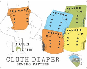 Fresh Bum Pocket Style Cloth Diaper Sewing Pattern