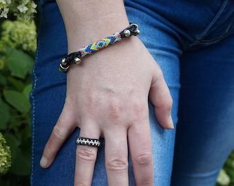 Friendship bracelet Boho jewelry Boho chic Custom bracelet Infinity bracelet Women bracelet Yoga bracelet Gypsy bracelet Hippie bracelet