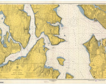 Puget Sound Map 1946