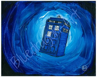 Dr Who, original print of Acrylic painting 8 inches by 11 inches