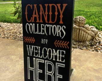 Halloween Decor / Fall Decorations / Candy / Trick or Treat / Wall Art / Fall Decor / Home Decor / Fall Signs Outdoors