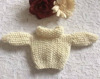 Hand knit Barbie / Sindy doll jumper - any colour available