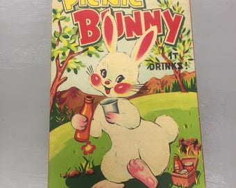 Vintage Battery Operated Picnic Bunny