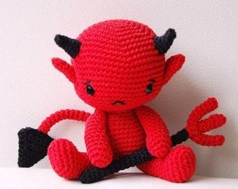Amigurumi Crochet Devil Pattern - Baby Devil - Softie - Plush