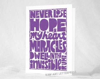 RUMI, Rumi Quote, Sympathy Card, Get Well, Survivor Card, Hope, Recovery