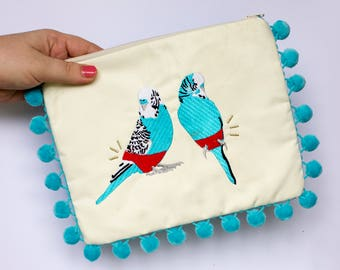 Budgie Smuggler Clutch - Handmade by Alice