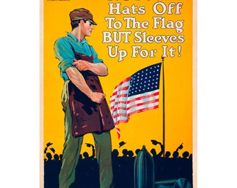 Sleeves Up for the Flag WWII Wall Decal #48340