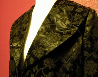 Vintage Silken Jacquard Floral Berkley's 2 pc Suit Set