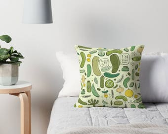 Pickle pillow  - throw pillow case cushion cover pillow cover pillowcase