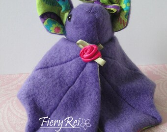 Purple Bat, Bat Plush, Cute Bat