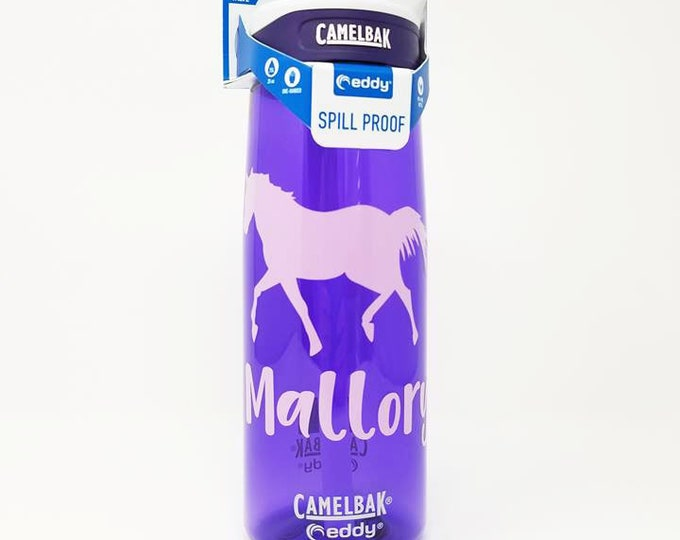 Personalized CamelBak ® Water Bottle- Horse, Name ,Bottle, Hydrate, Custom, Bottle, Horse, Magic, Equestrian, Animals, Horses .75L Eddy
