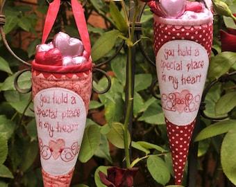Be Mine Valentines Day Cones PDF Pattern