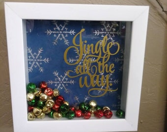 Jingle Bell Shadow Box Frame Christmas