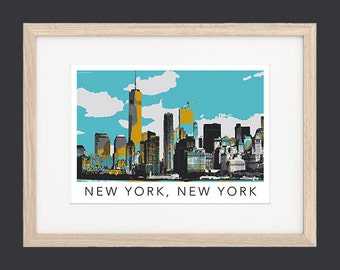 New York Skyline Poster UNFRAMED