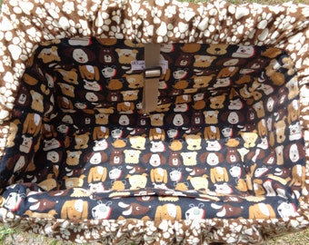 """Pet Shopping Cart Cover""""Doggies on Brown """" Ready to Ship"""