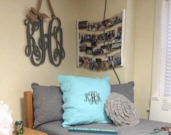 "Painted Wooden Monogram - Three Letter Monogram - 24"" Vine Script Monogram - Monogram Wall Hanging - Monogram Door Hanger - Wooden Letters"