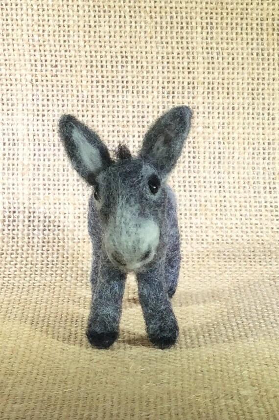 Donkey/Felted Donkey/Felt Animals/Miniature Donkey