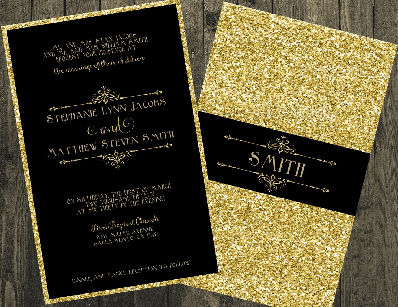 wedding invitations black Minimfagencyco