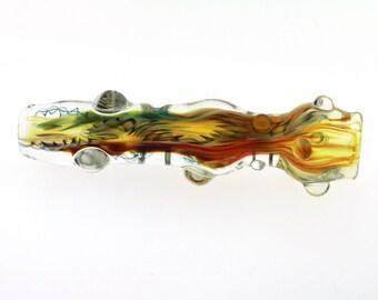 Ashmere Glassworks Hand Blown Glass Smoking Pipe Borosilicate insideout chillum #38